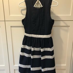 New Navy and white stripped dress